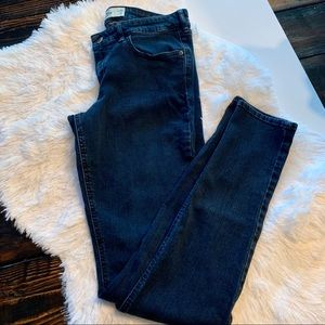 Hollister Dark Blue Low Rise Skinny Jeans